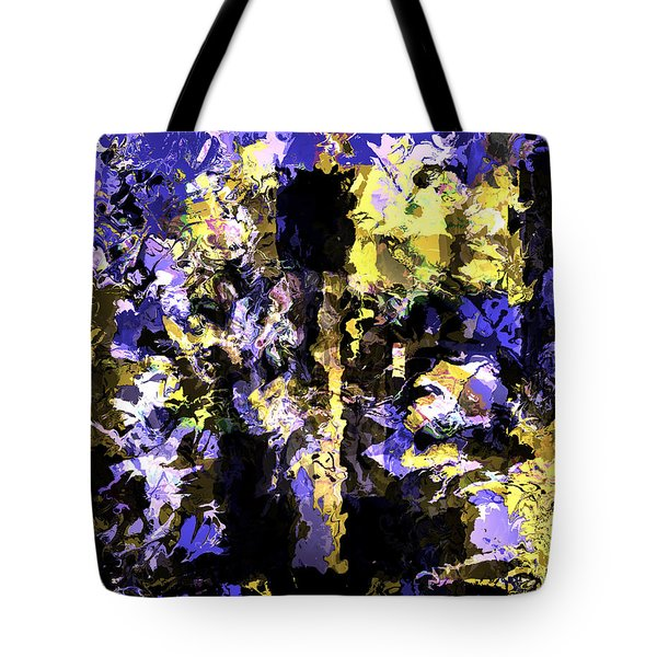 Untitled Blue Tote Bag by Terence Morrissey