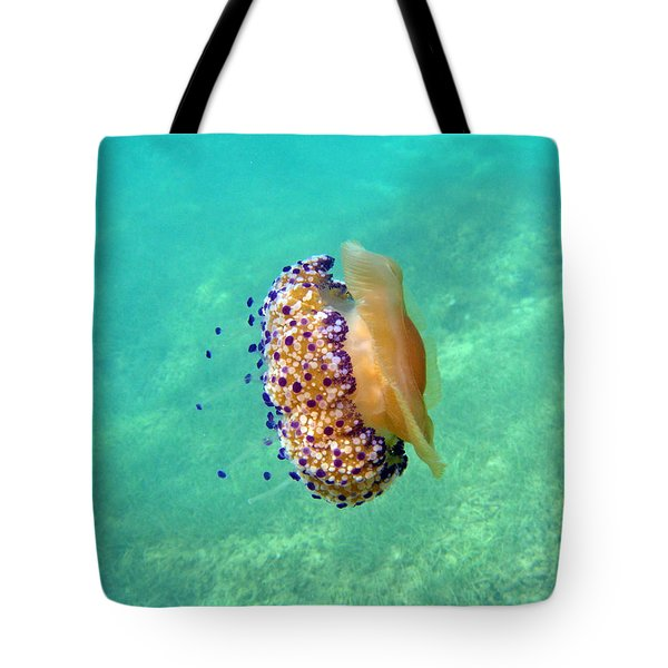 Unwelcome Jellyfish Tote Bag by Rod Johnson
