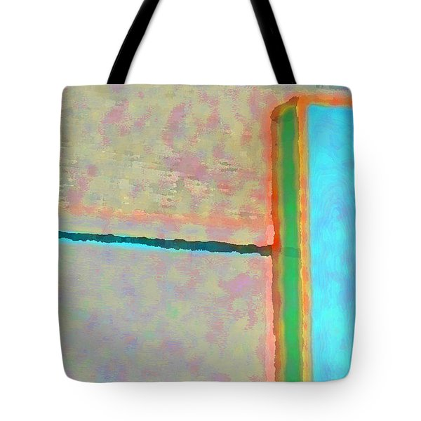 Tote Bag featuring the digital art Up And Over by Richard Laeton