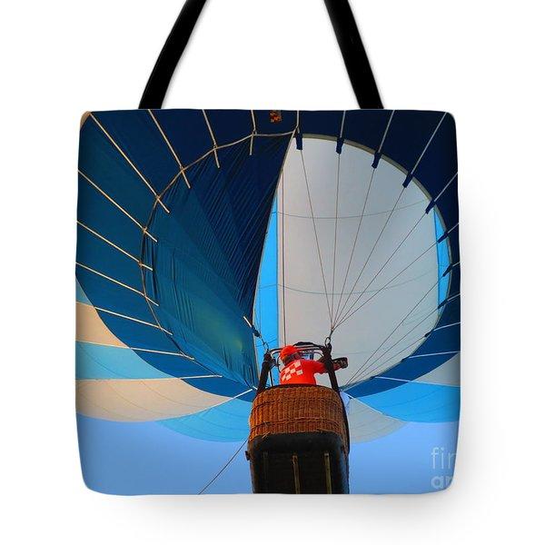 Tote Bag featuring the photograph Up Into The Blue. Oshkosh 2012. by Ausra Huntington nee Paulauskaite