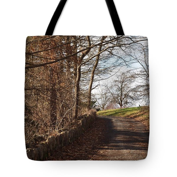 Up Over The Hill Tote Bag by Robert Margetts