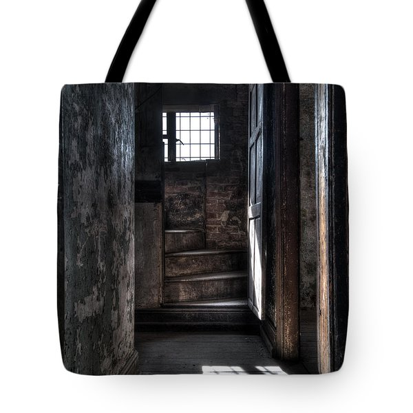 Up The Stairs Tote Bag by Steev Stamford