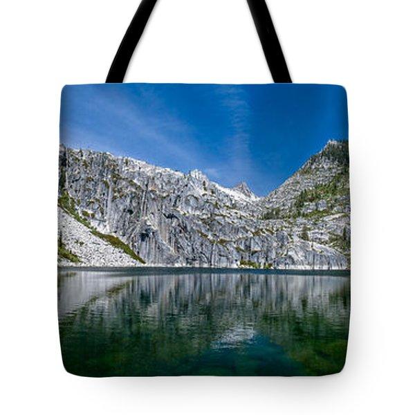 Upper Canyon Creek Lake Panorama Tote Bag
