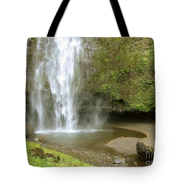 Upper Cascade Pool Multnomah Falls Or Tote Bag