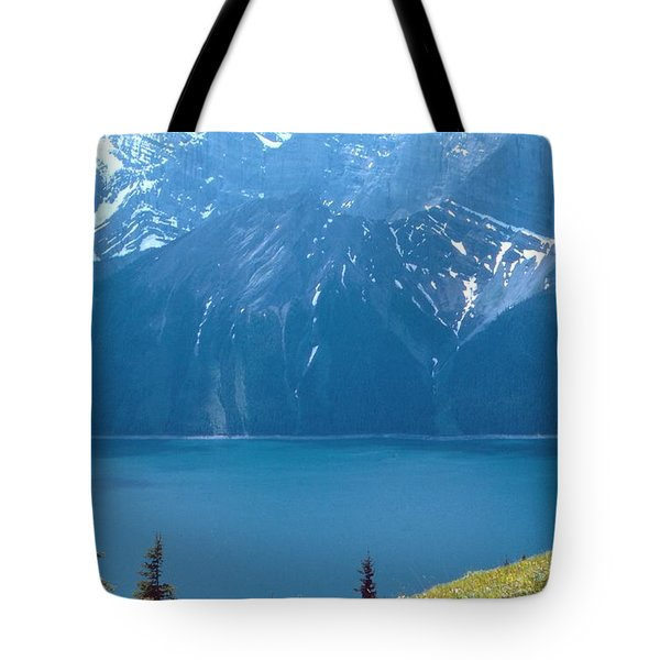 Tote Bag featuring the photograph Upper Kananaskis Lake by Jim Sauchyn