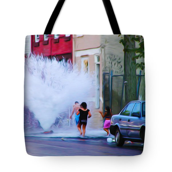 Urban Waterpark Tote Bag by Bill Cannon