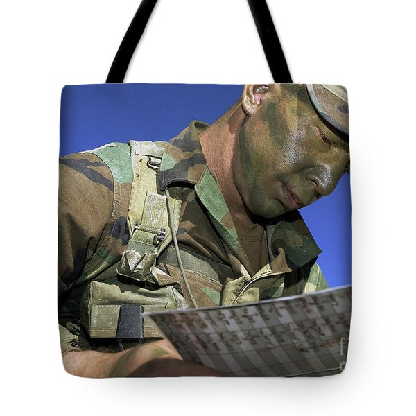 U.s. Air Force Lieutenant Reviews Tote Bag by Stocktrek Images