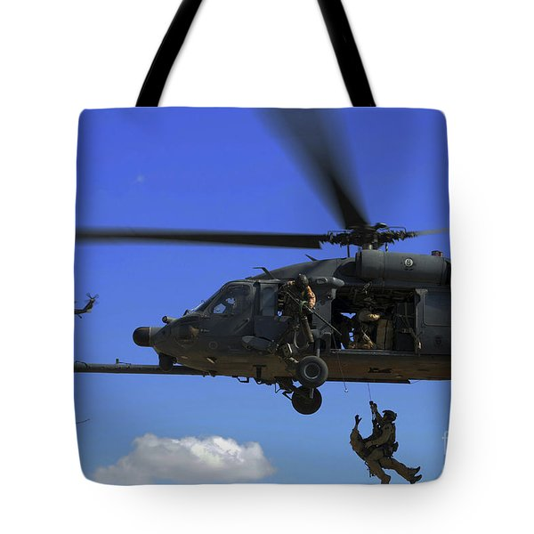 U.s. Air Force Pararescuemen Tote Bag by Stocktrek Images