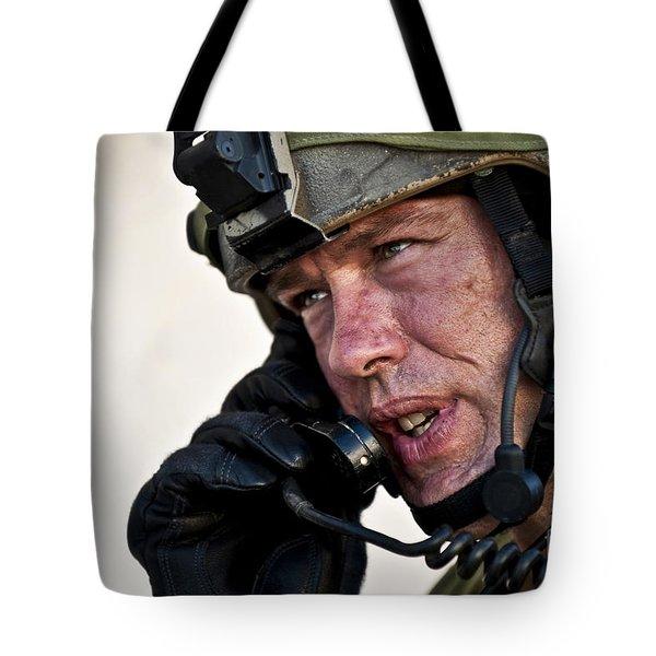 U.s. Air Force Sergeant Calls Tote Bag by Stocktrek Images