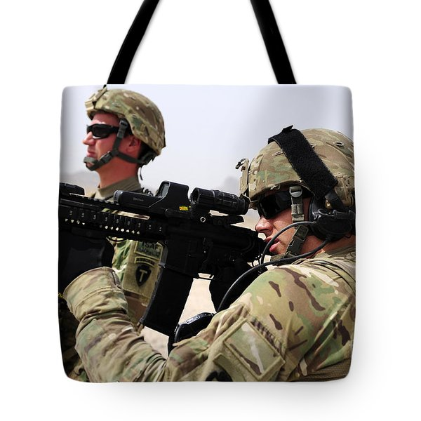 U.s. Army National Guards Pull Security Tote Bag by Stocktrek Images