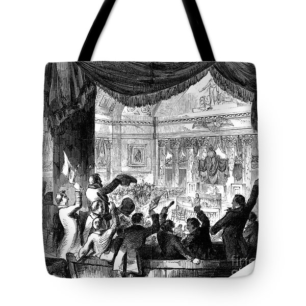 U.s. Congress: House, 1856 Tote Bag by Granger