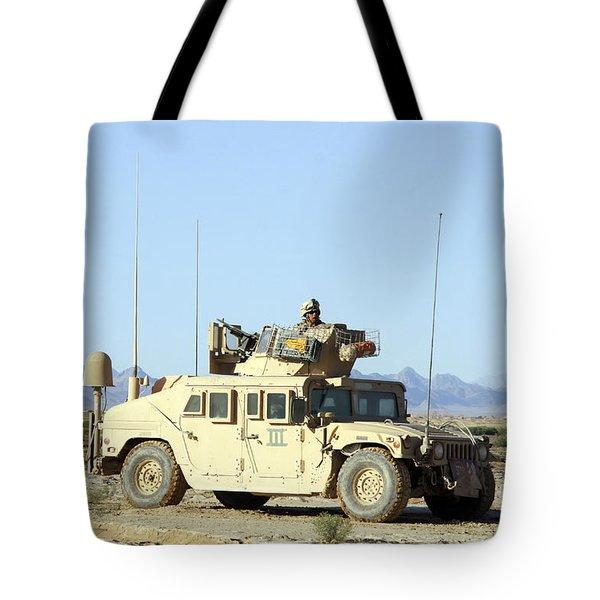 U.s. Marine Standing Ready Tote Bag by Stocktrek Images