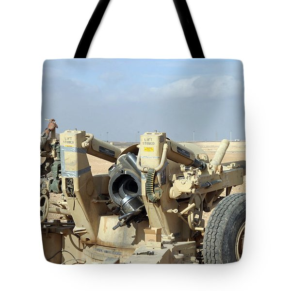 U.s. Marines Prepare To Fire A Howitzer Tote Bag by Stocktrek Images