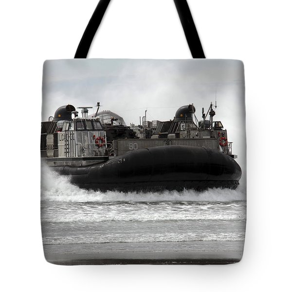 U.s. Navy Landing Craft Air Cushion Tote Bag by Stocktrek Images