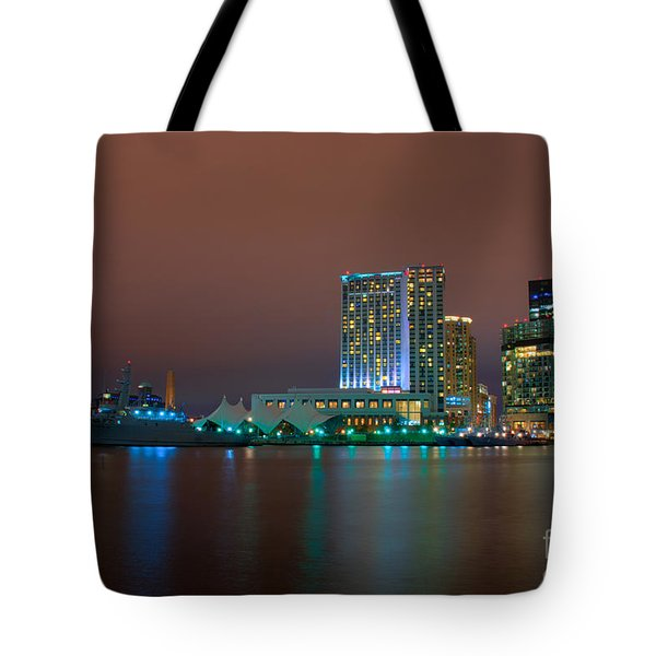 Uscgc Eagle And Inner Harbor East Tote Bag