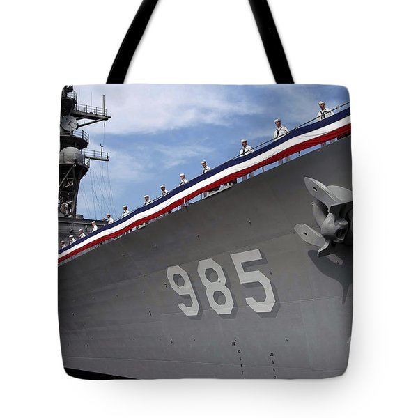 Uss Cushing Is Decommissioned Tote Bag