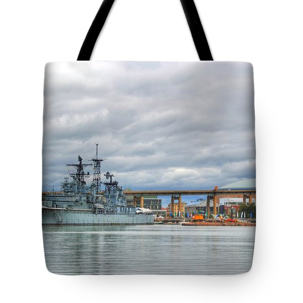 Tote Bag featuring the photograph Uss Little Rock by Michael Frank Jr