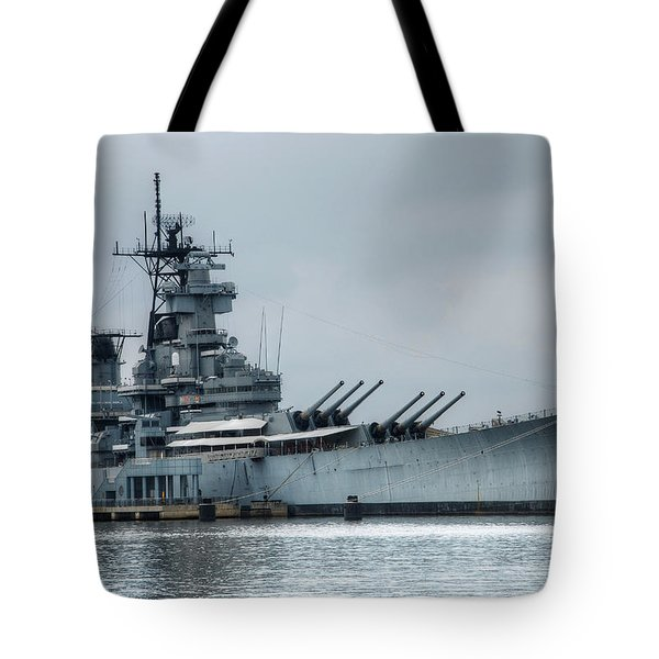 Uss New Jersey Tote Bag by Jennifer Ancker