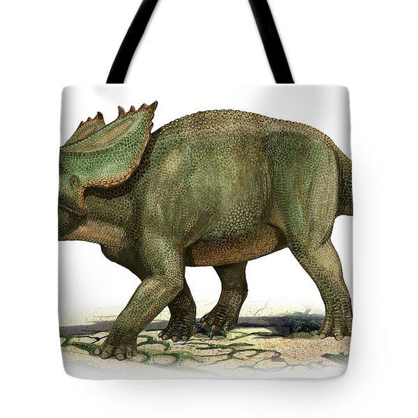 Utahceratops Gettyi, A Prehistoric Era Tote Bag by Sergey Krasovskiy