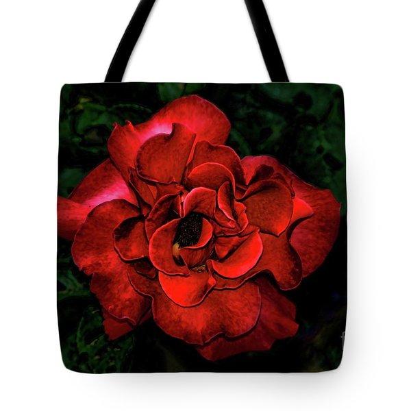 Valentine Rose Tote Bag by Mariola Bitner