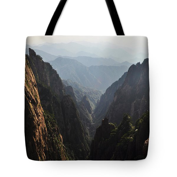 Valley In Huangshan Tote Bag