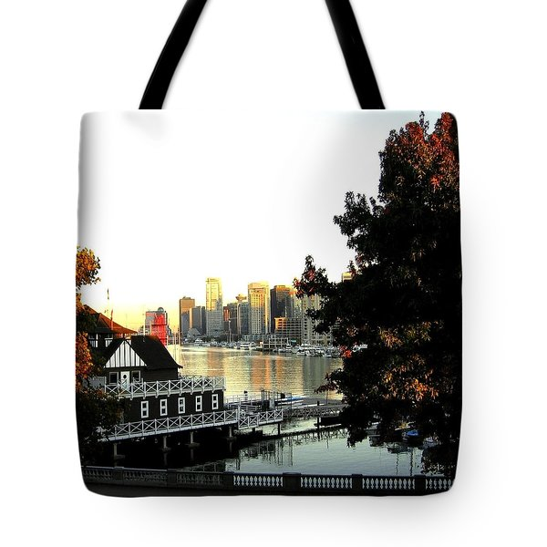Vancouver At Sundown Tote Bag by Will Borden