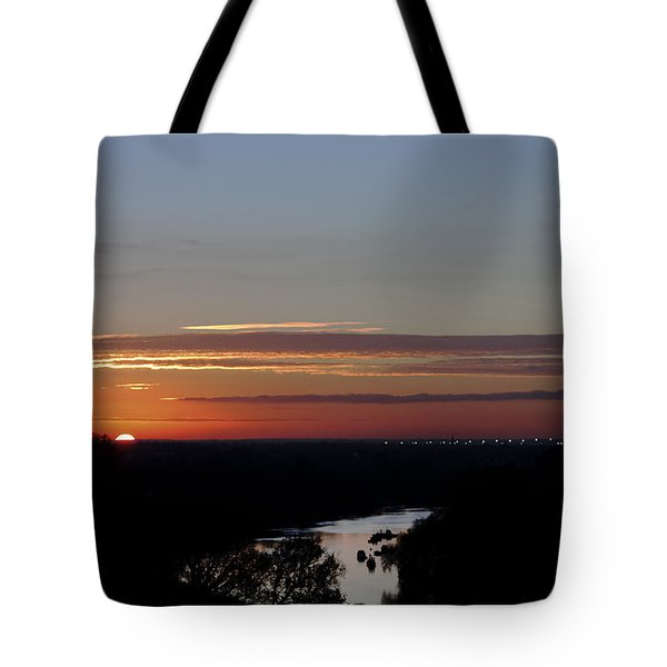 Tote Bag featuring the photograph Vanishing Sunset by Maj Seda