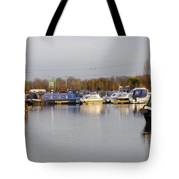 Various Boats At Barton Marina Tote Bag by Rod Johnson