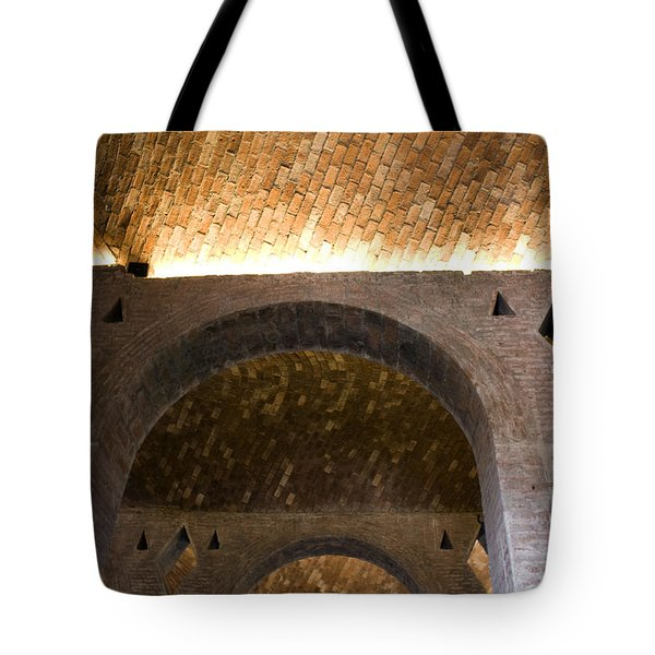 Vaulted Brick Arches Tote Bag by Lynn Palmer