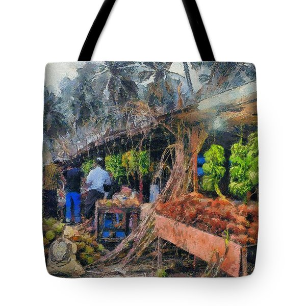 Vegetable Sellers Tote Bag