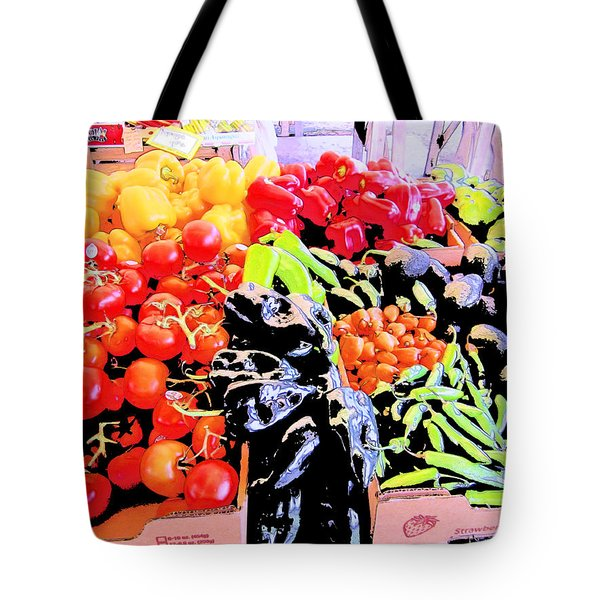 Vegetables On Display Tote Bag by Kym Backland