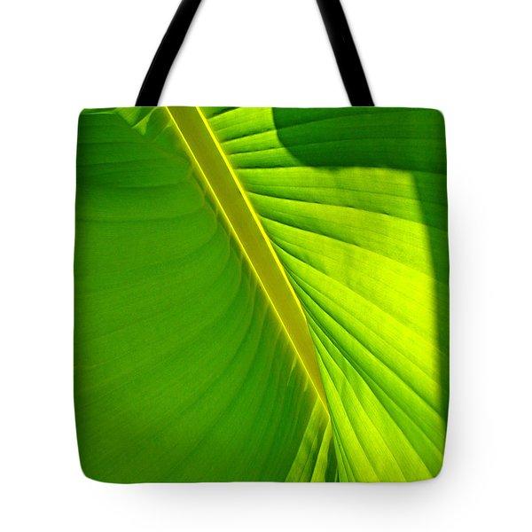 Veins Of Green Tote Bag by Nick Kloepping