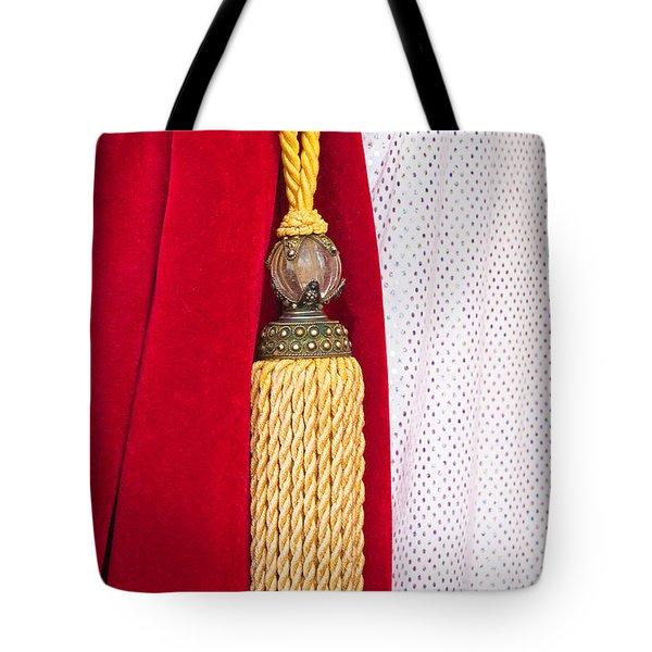 Velvet Curtain Tote Bag by Tom Gowanlock