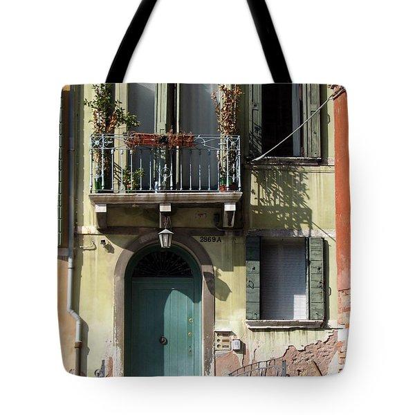 Venetian Doorway Tote Bag by Carla Parris