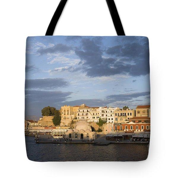 Venetian Harbor At Sunset Tote Bag
