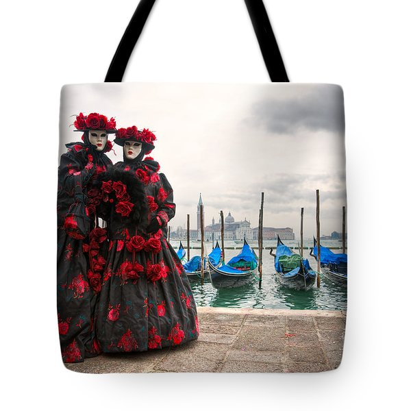 Tote Bag featuring the photograph Venice Carnival Mask by Luciano Mortula