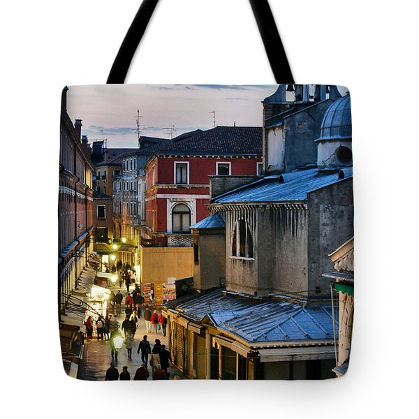 Venice From Ponte Di Rialto Tote Bag