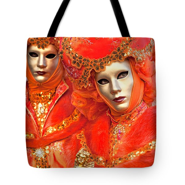 Tote Bag featuring the photograph Venice Masks by Luciano Mortula