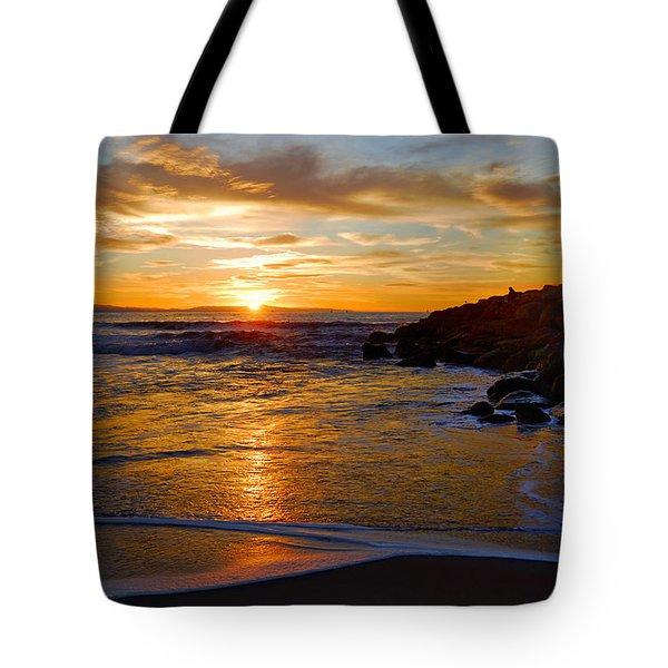 Tote Bag featuring the photograph Ventura Beach Sunset by Lynn Bauer