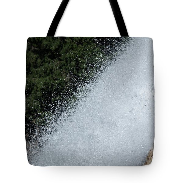 Vernal Falls On The Mist Trail At Yosemite Np Tote Bag
