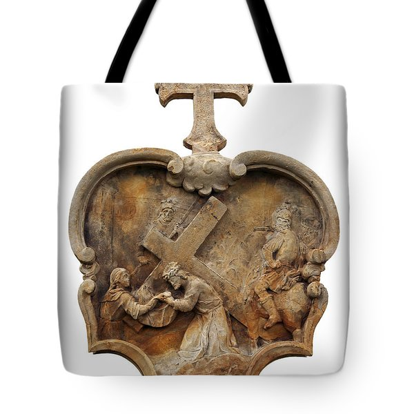 Veronica Wipes The Face Of Jesus Tote Bag by Michal Boubin