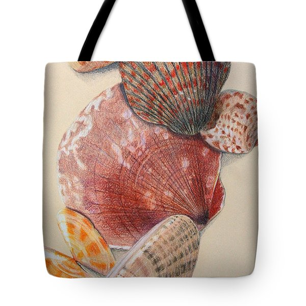 Vertical Clam Shells Tote Bag