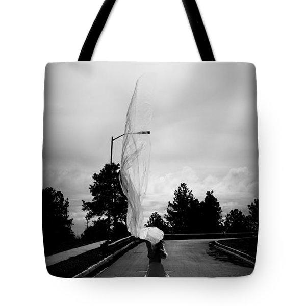 Vertical Cloth Wind  Tote Bag by Scott Sawyer