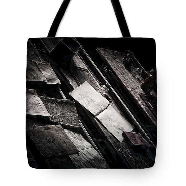 Vertigo Learning Tote Bag by Empty Wall