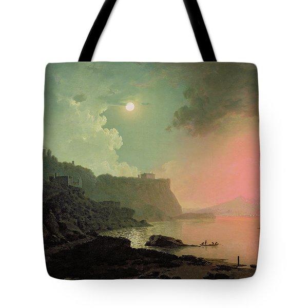 Vesuvius From Posillipo Tote Bag by Joseph Wright of Derby