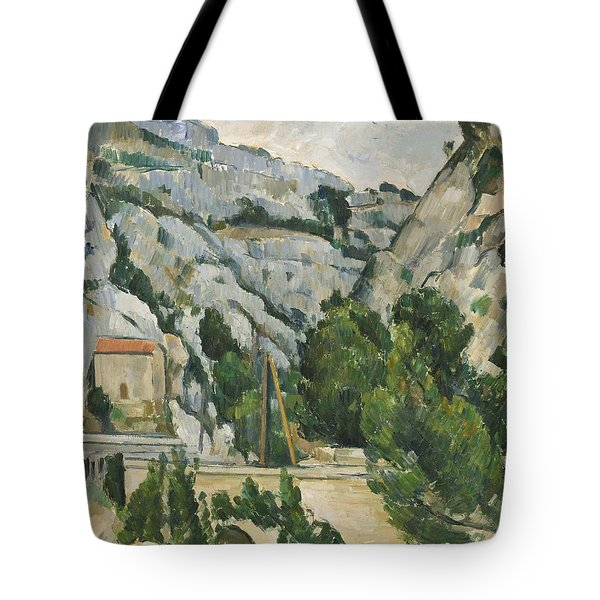 Viaduct At L'estaque Tote Bag by Paul Cezanne
