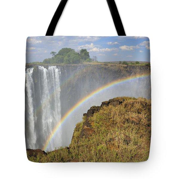 Victoria Falls Tote Bag by Tony Beck