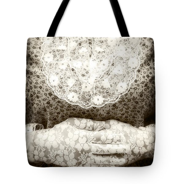 Victorian Hands Tote Bag by Joana Kruse