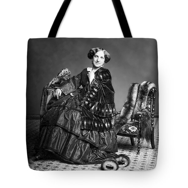 Victorian Woman With Furs C. 1853 Tote Bag by Daniel Hagerman