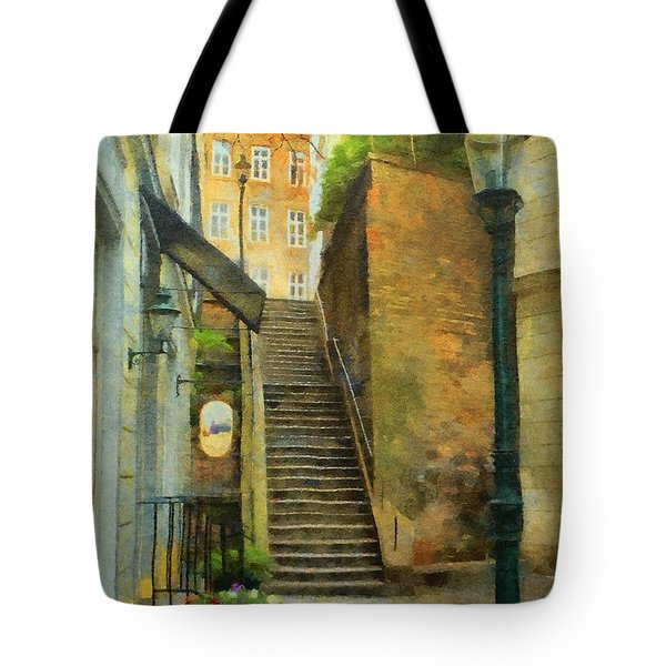 Viennese Side Street Tote Bag by Jeff Kolker